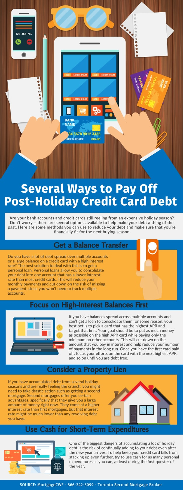 Several Ways to Pay Off Post-Holiday Credit Card Debt - Infographic