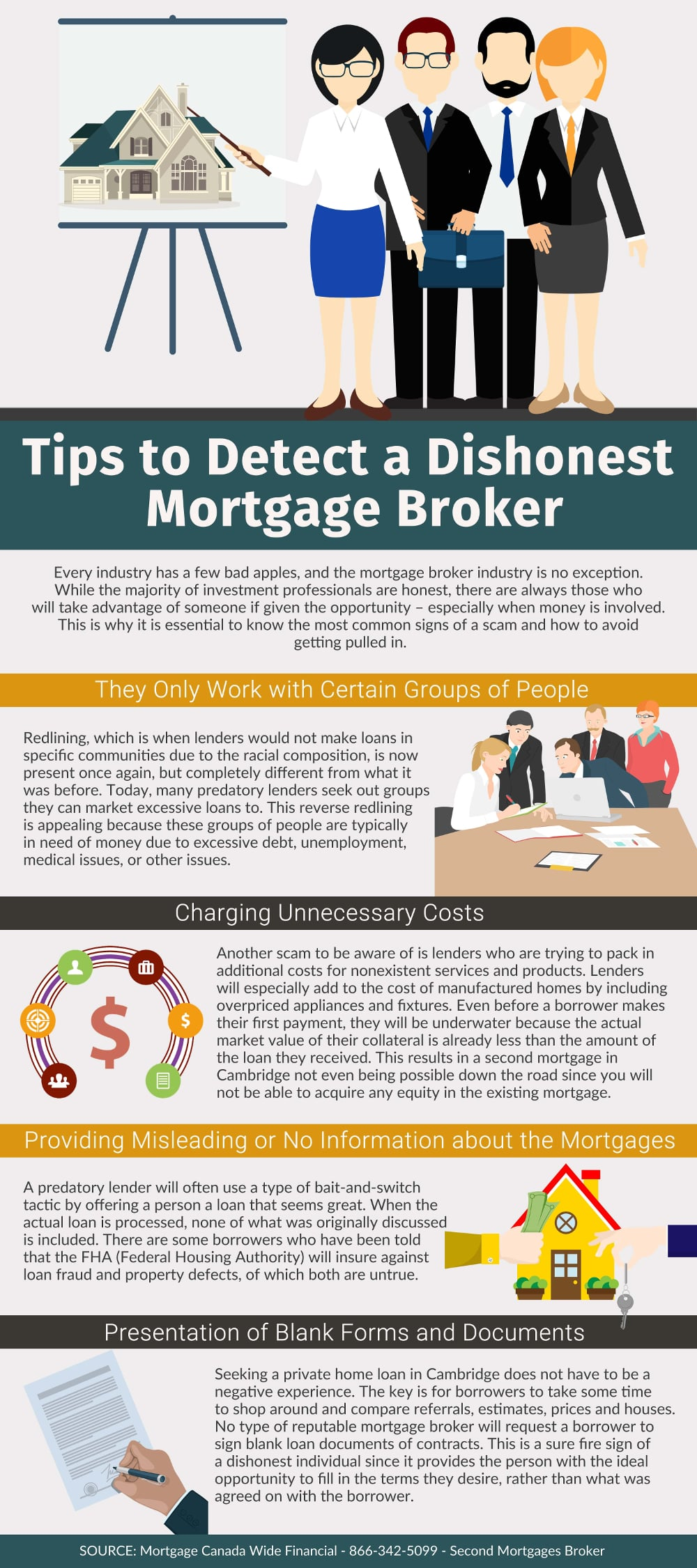 Tips to Detect a Dishonest Mortgage Broker - Infographic