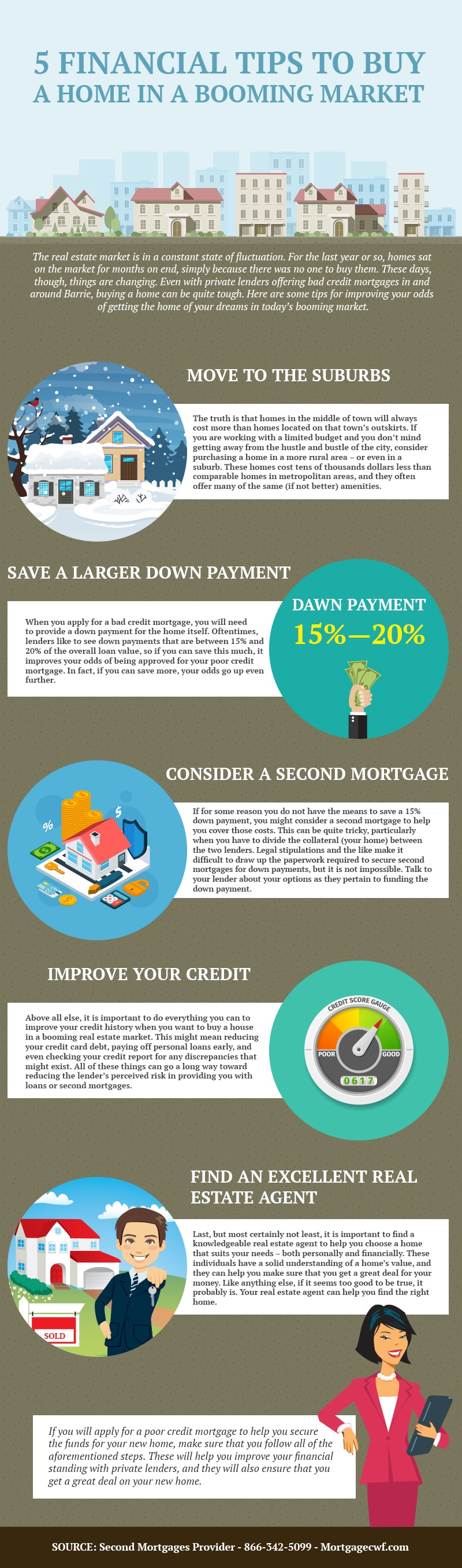 5 Financial Tips to Buy a Home in a Booming Market - Infographic